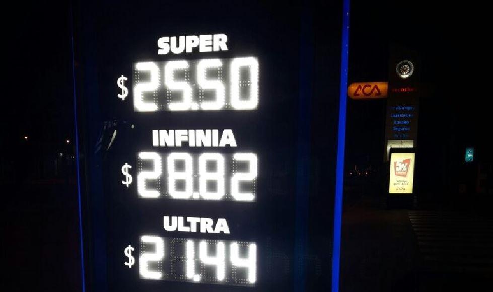 Continúan los aumentos: suben 6% los combustibles en todo el país