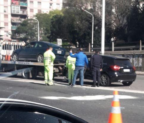 Un herido en un accidente de tránsito protagonizado por Javier Pinola