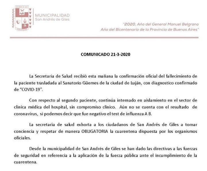 La cuarta víctima fatal fue en Buenos Aires — Coronavirus