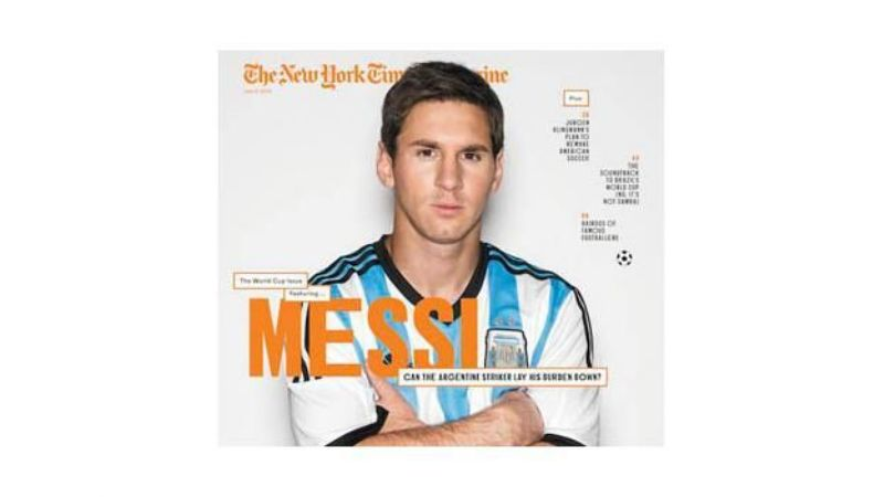 Messi protagonizó la revista del New York Times