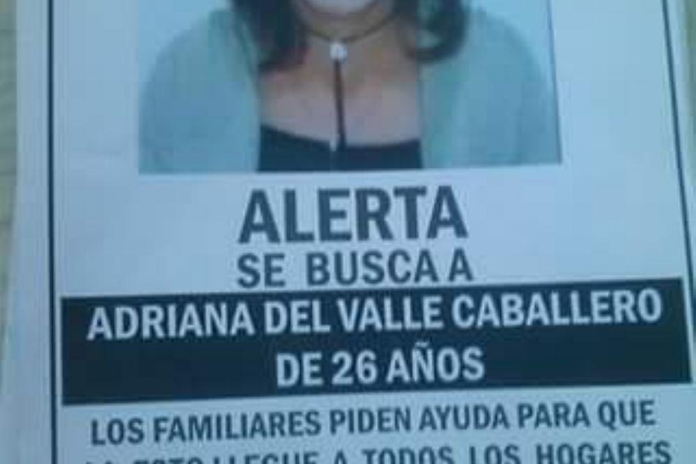 Recompensa de 150 mil pesos a quien aporte datos sobre el paradero de Adriana Caballero