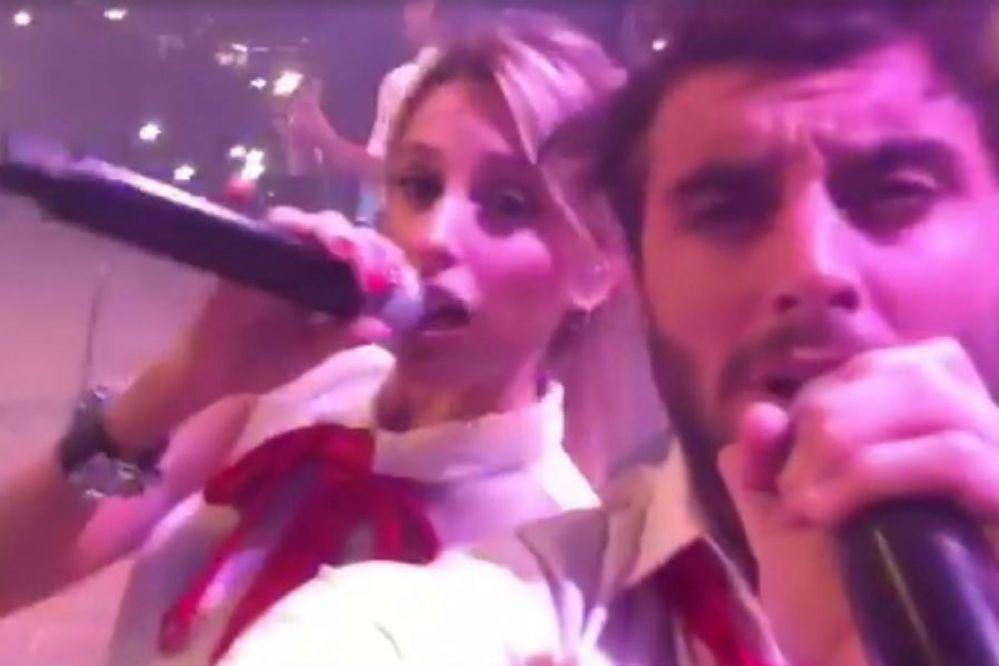Agapornis publicó un video desde arriba del escenario en Necochea