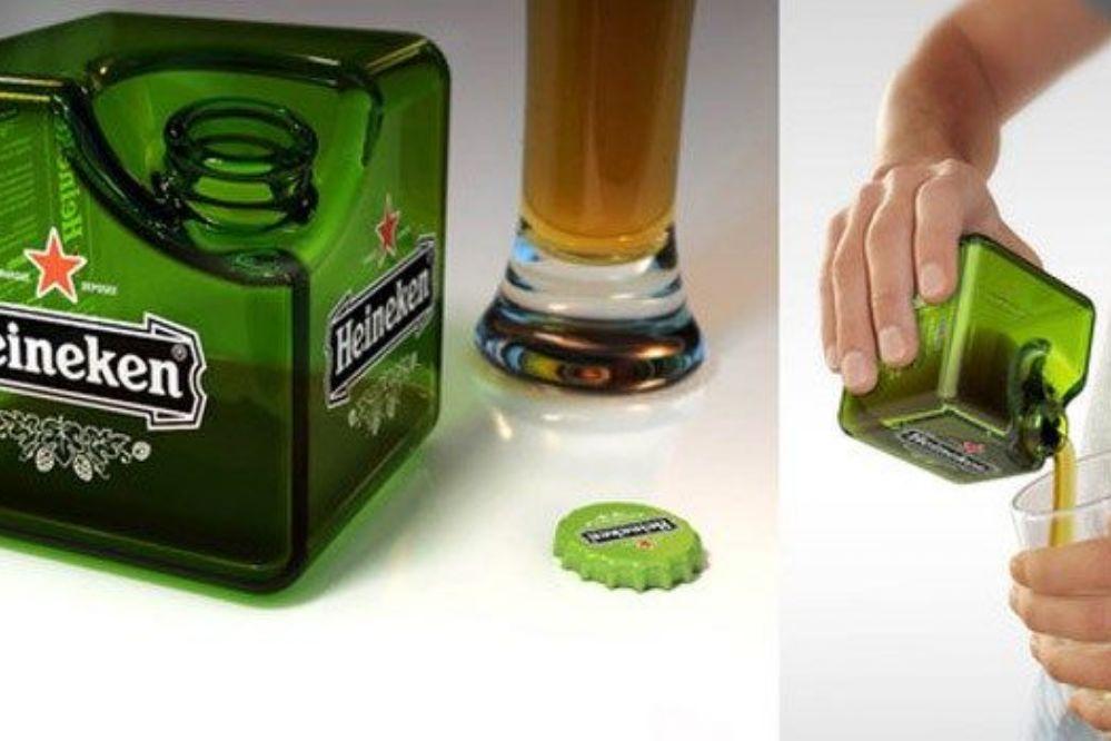 Una botella cúbica para hacer cerveza sustentable