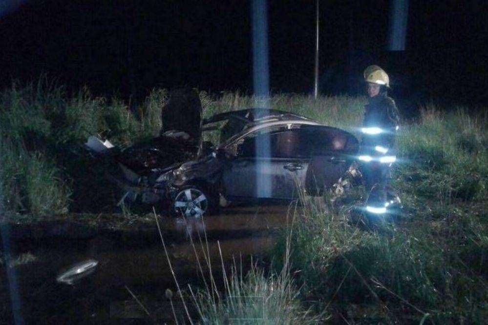 Fotos: Cuatro heridos tras un vuelco en la Ruta 86 en Benito Juárez