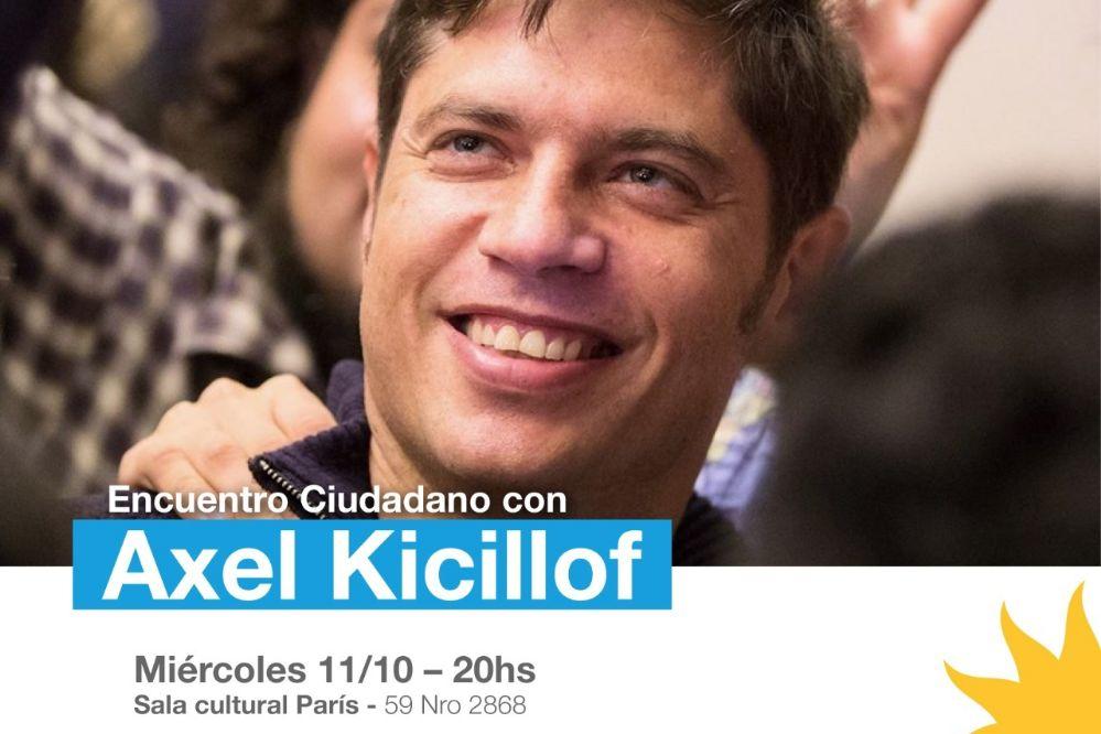 Kicillof Superstar: El ex ministro de Economía llegó al Teatro París
