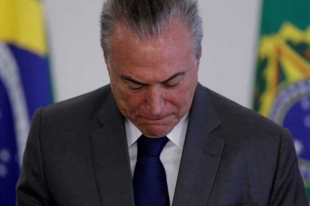 Tras el escándalo por los sobornos, Temer suspendió su agenda