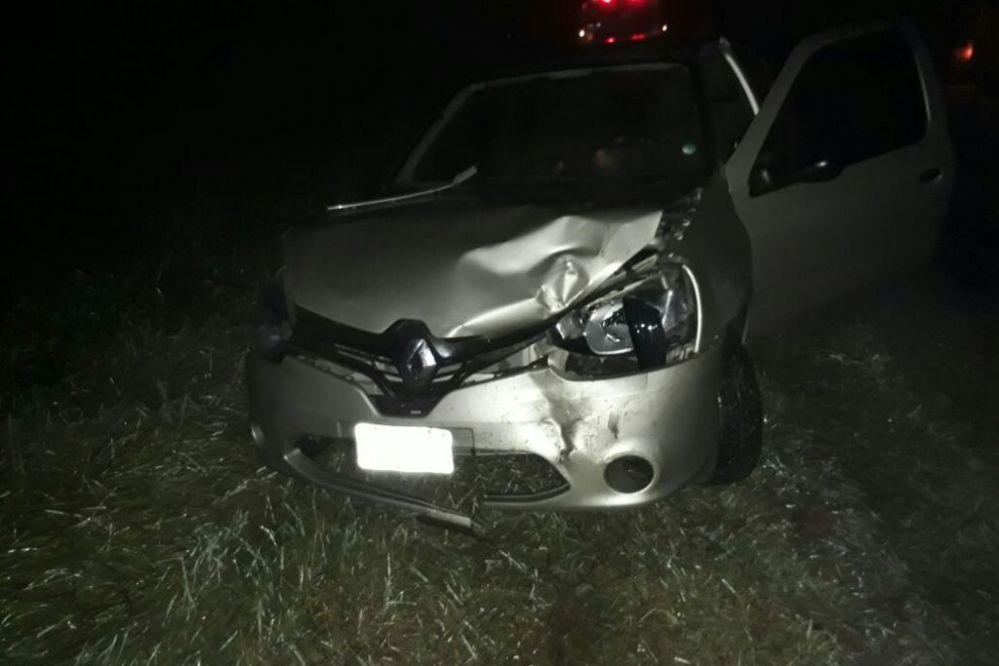 Cuatro heridos en triple choque por las lluvias en Ruta 80