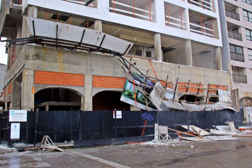 Destrozos en la Villa Balnearia por el temporal