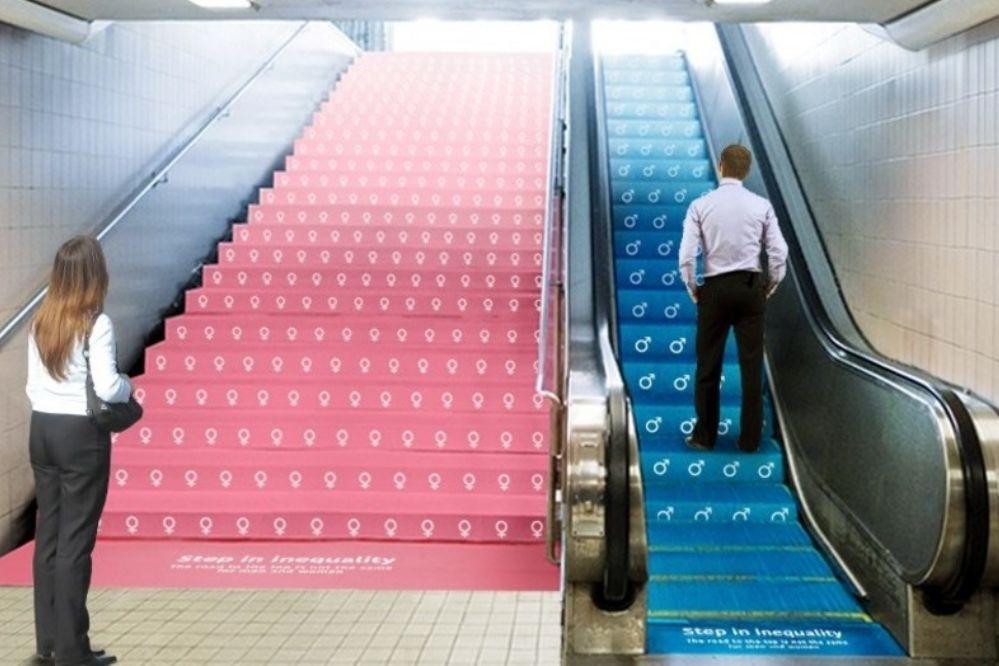 """Campaña gráfica: """"El camino a la cima no es el mismo para los hombres que para las mujeres"""""""