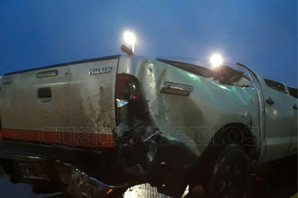 Fotos: Un necochense protagonizó un vuelco en la Ruta 227
