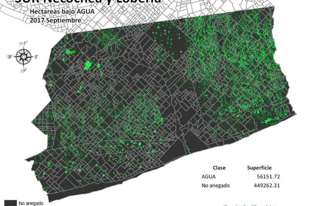 Mapa: Así quedaron Necochea y Lobería tras el temporal