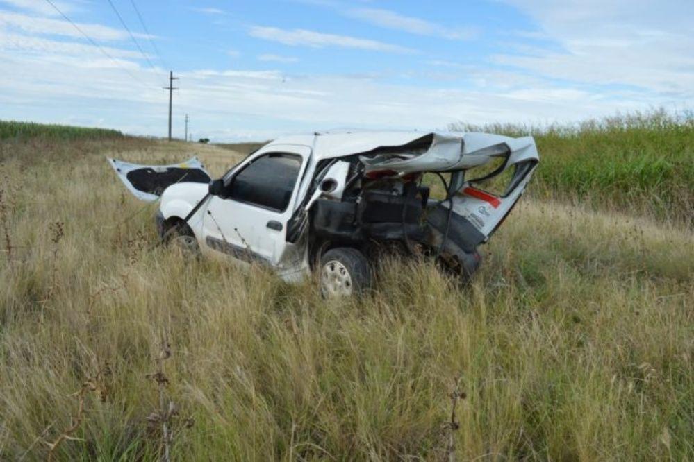 Juan Bautista y Franco De Benedictis se accidentaron en la Ruta 6