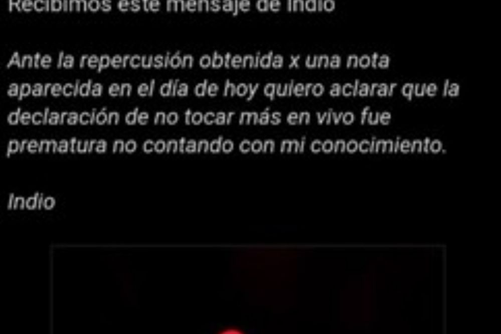 """El Indio Solari desmintió a su manager: """"La declaración de no tocar más en vivo fue prematura"""""""